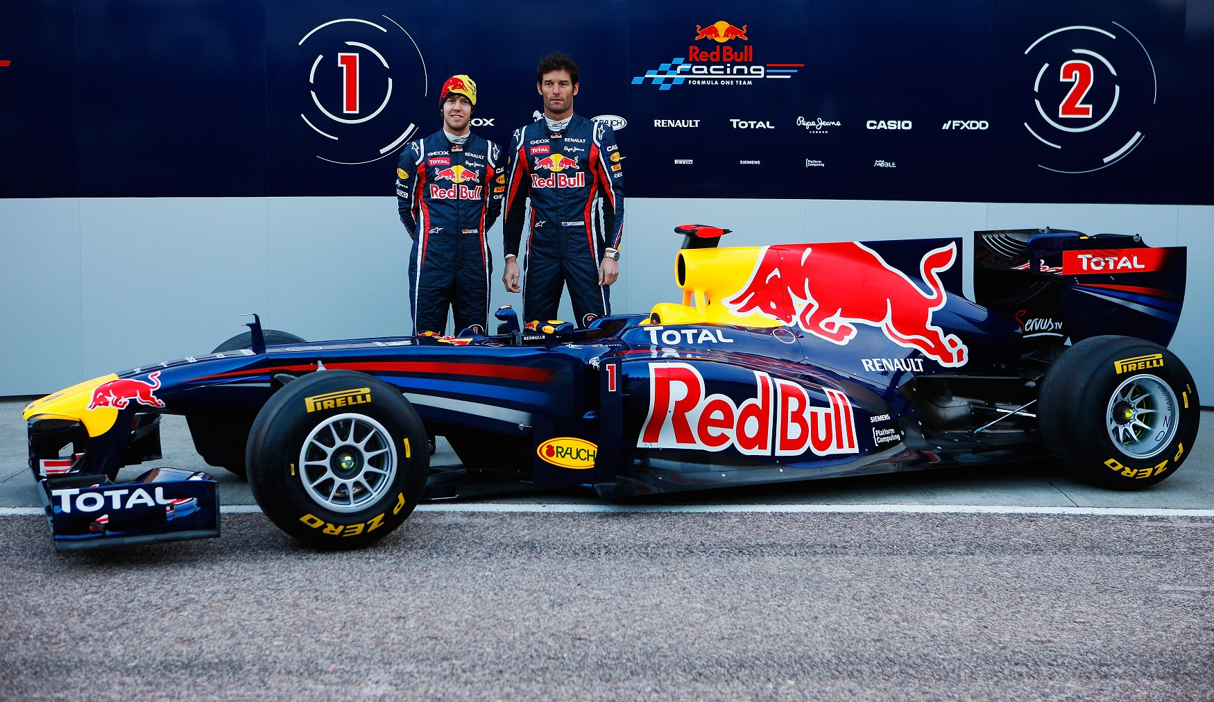 Red Bull RB7 presentacion red