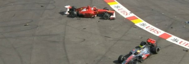 accidente alonso f1 belgica
