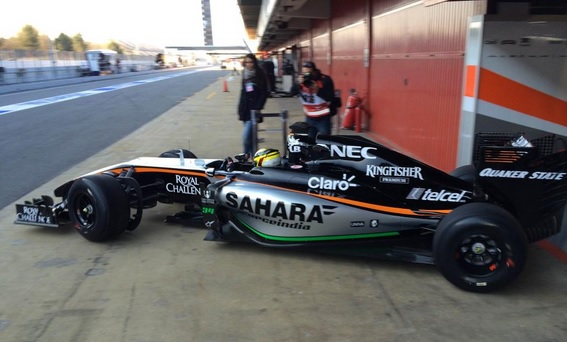 Wehrlein force india test barcelona