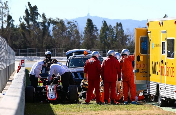 coche accidente alonso