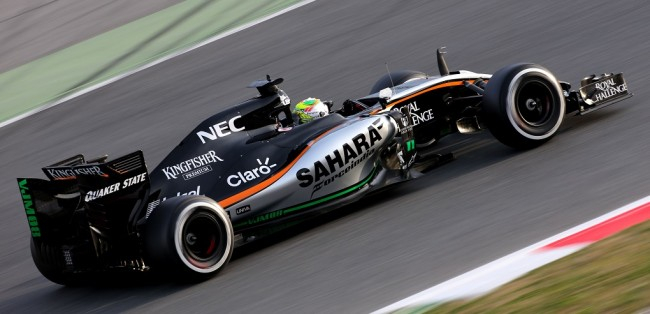 Sergio Perez Force India 2015