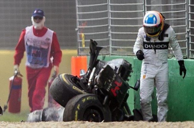 accidente alonso f1