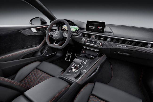 audi rs5 coupe 2017 interior